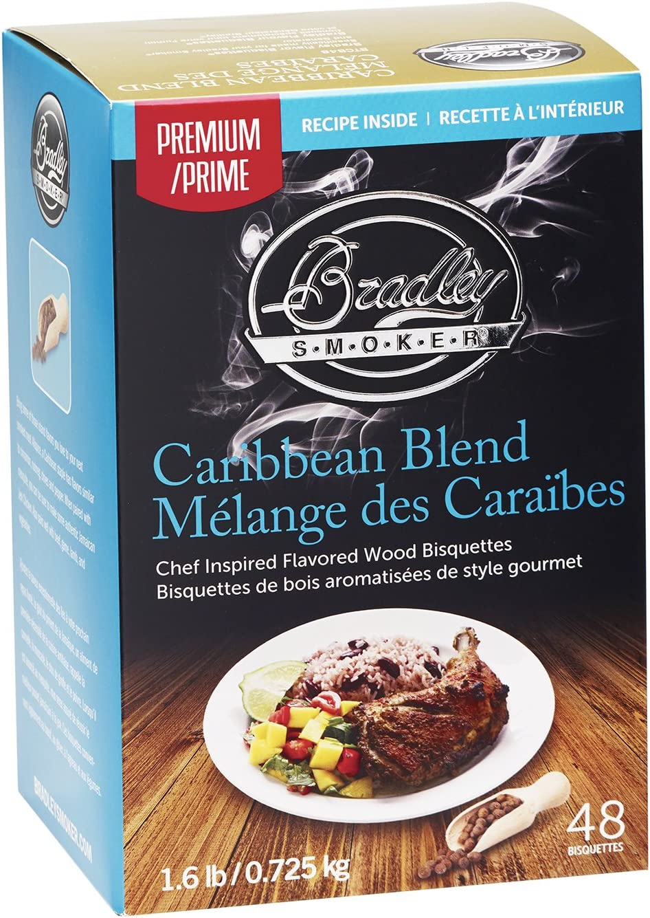 Bradley Smoker Caribbean Blend Bisquettes (48 Pack)