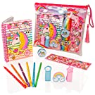 Style Girlz Deluxe Unicorn Stationery Set - Girls Colouring Pencils Journal Notebook Pencil Case Art Kit