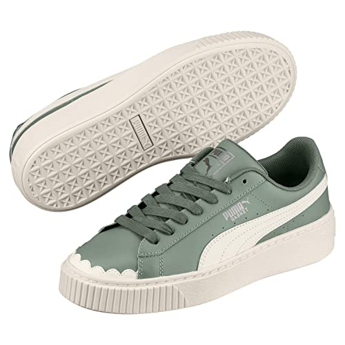 cce86095ef Puma Basket Platform Scallop Wn's Sneaker Donna 366723 01 Laurel Wreath  (37.5 ...