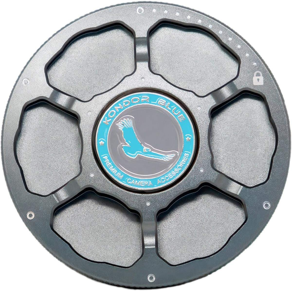 Space Gray Aluminum Alloy EOS DSLR Cine Camera Port Cover KONDOR BLUE EF Mount Camera Body Cap Metal