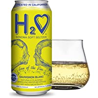 H2O (New Vintage!) The World's First California Wine-Infused Sparkling Refreshment, 0.0% Non-Alcoholic, 16 Fl oz Can…