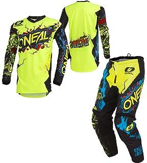 2019 Element Villain Mens HI-VIS NEON Yellow Medium//32W MX Riding Gear Combo Set Motocross Off-Road Dirt Bike Jersey /& Pant ONeal