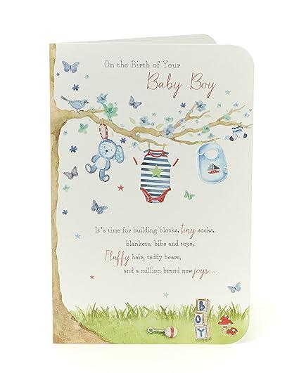 Tarjeta de felicitación para recién nacido, diseño con texto en ...