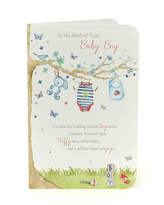 Amazon.com: On the Birth of Your New Baby Boy Congratulations ...