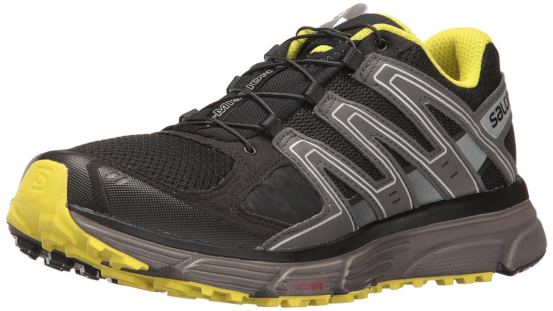 Salomon X-Mission 3, Zapatillas de Trail Running para Hombre 46 EU|Negro (Black/Magnet/Sulphur Spring)