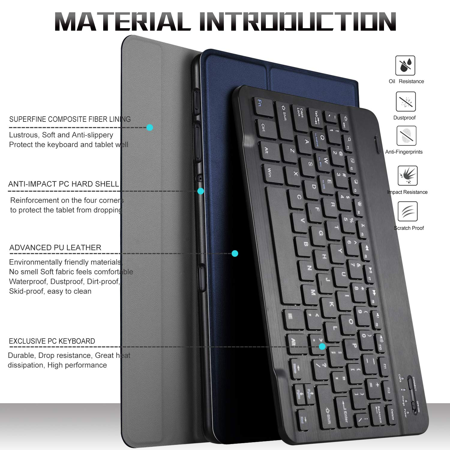 ... Wireless Keyboard Stand Case/Cover for Samsung Galaxy Tab A 10.5 2018 Release SM-T590 (Wi-Fi)& SM-T595 (LTE) Tablet(Blue): Computers & Accessories