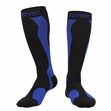 Medias/Calcetines de compresión FEATOL Calcetines funcionales Calcetines hasta la rodilla, compresión graduada: