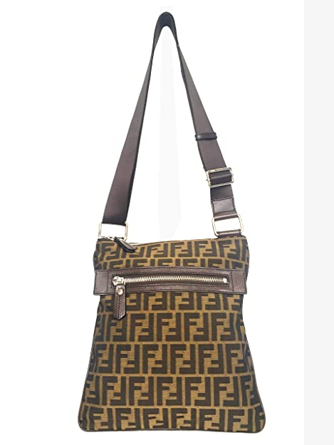 Fendi borsa uomo a tracolla in nylon marrone Cod 7VA255AWMF0JTK  Amazon.it   Scarpe e borse d53a2f3f00e