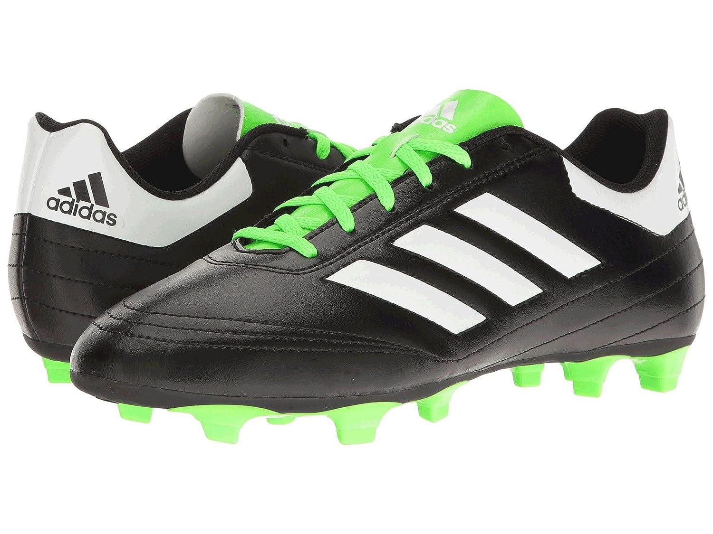 (アディダス) adidas メンズサッカーシューズ靴 Goletto VI FG Core Black/Footwear White/Solar Green 12 (30cm) D Medium B07BQKWBX9