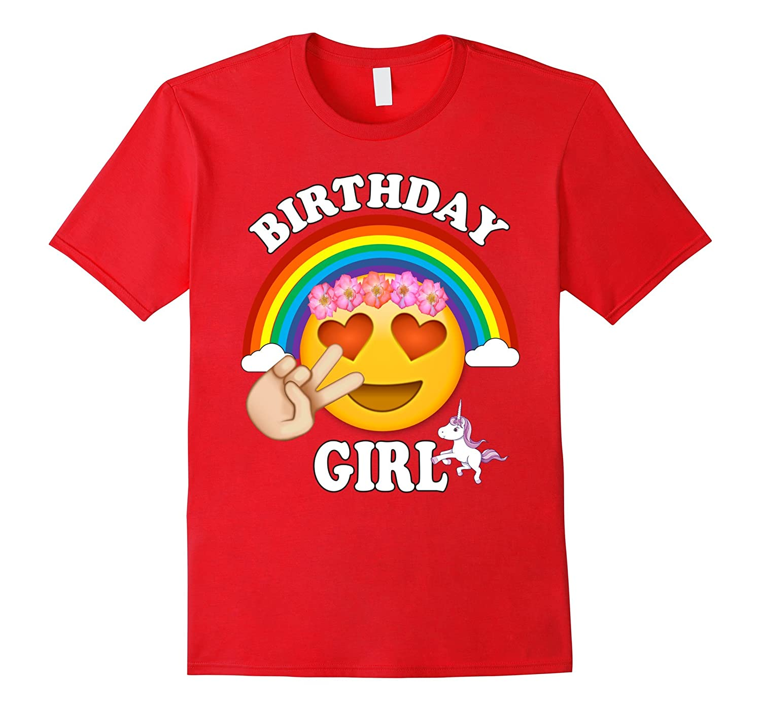 Emoji Birthday Shirt For Girls Unicorn Rainbow Cute-ah my shirt one gift