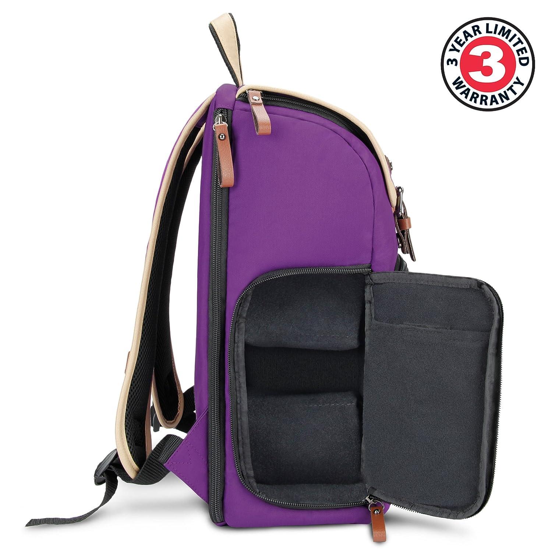 GOgroove Kamera Rucksack f/ür Spiegelreflexkameras: DSLR Backpack ideal f/ür Reisen ausreichend Platz f/ür Kamera /& Zubeh/ör T/ürkis sowie Laptop und Stativhalter /& wetterfestem Regenschutz