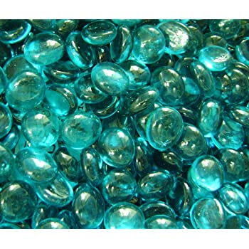 Amazon Creative Stuff Glass 1 Pound Teal Glass Gems Vase