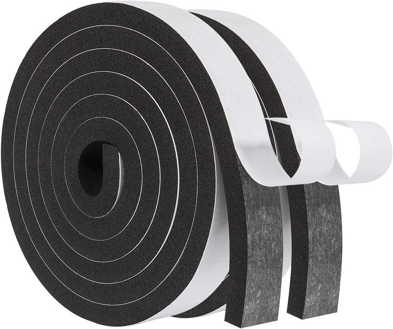 1 Inch Wide X 1//8 Inch Thick fowong High Density Foam Tape Total 30 Feet Window Insulation Air Conditioner Weather Stripping Closed Cell Adhesive Foam Padding Tape 15 Ft X 2 Rolls 2 Rolls