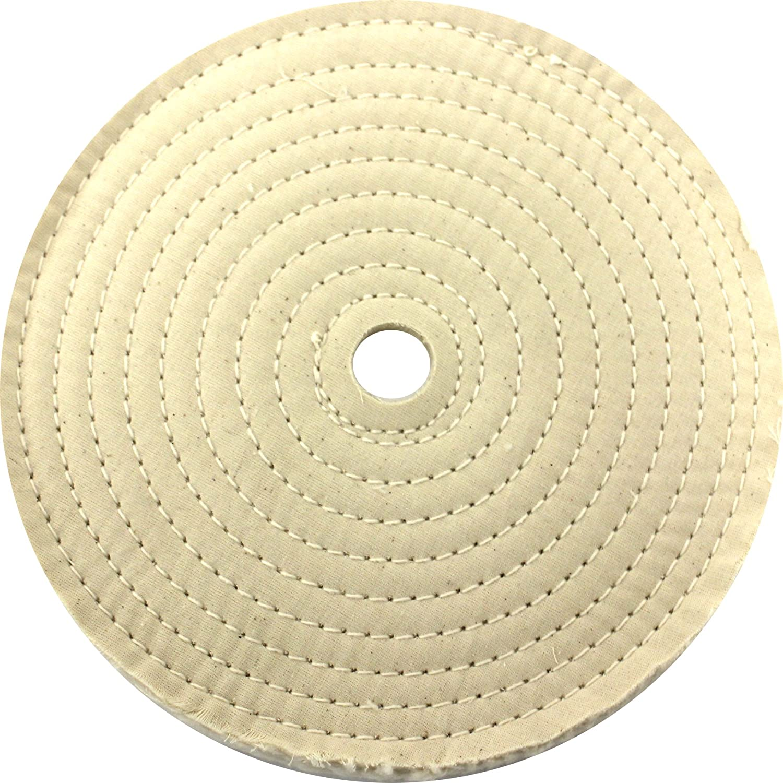 JacksonLea 47403SP Sewn Conventional Buff, 30 Ply BR 60/60 Cotton Cloth, 10' Diameter, 1' Arbor Hole 10 Diameter 1 Arbor Hole Osborn