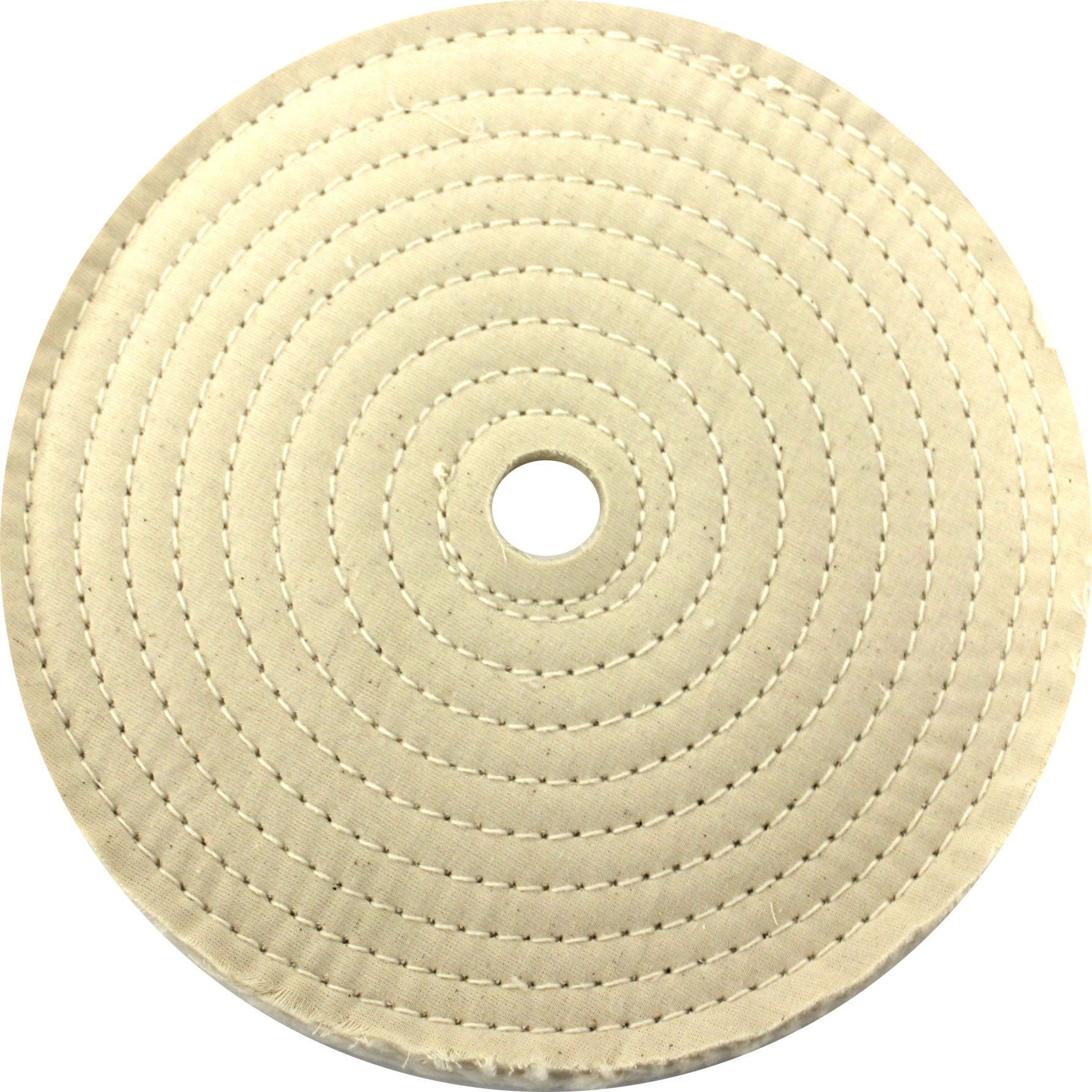 JacksonLea 47402SP Sewn Conventional Buff, 30 Ply BR 60/60 Cotton Cloth, 8'' Diameter, 1'' Arbor Hole