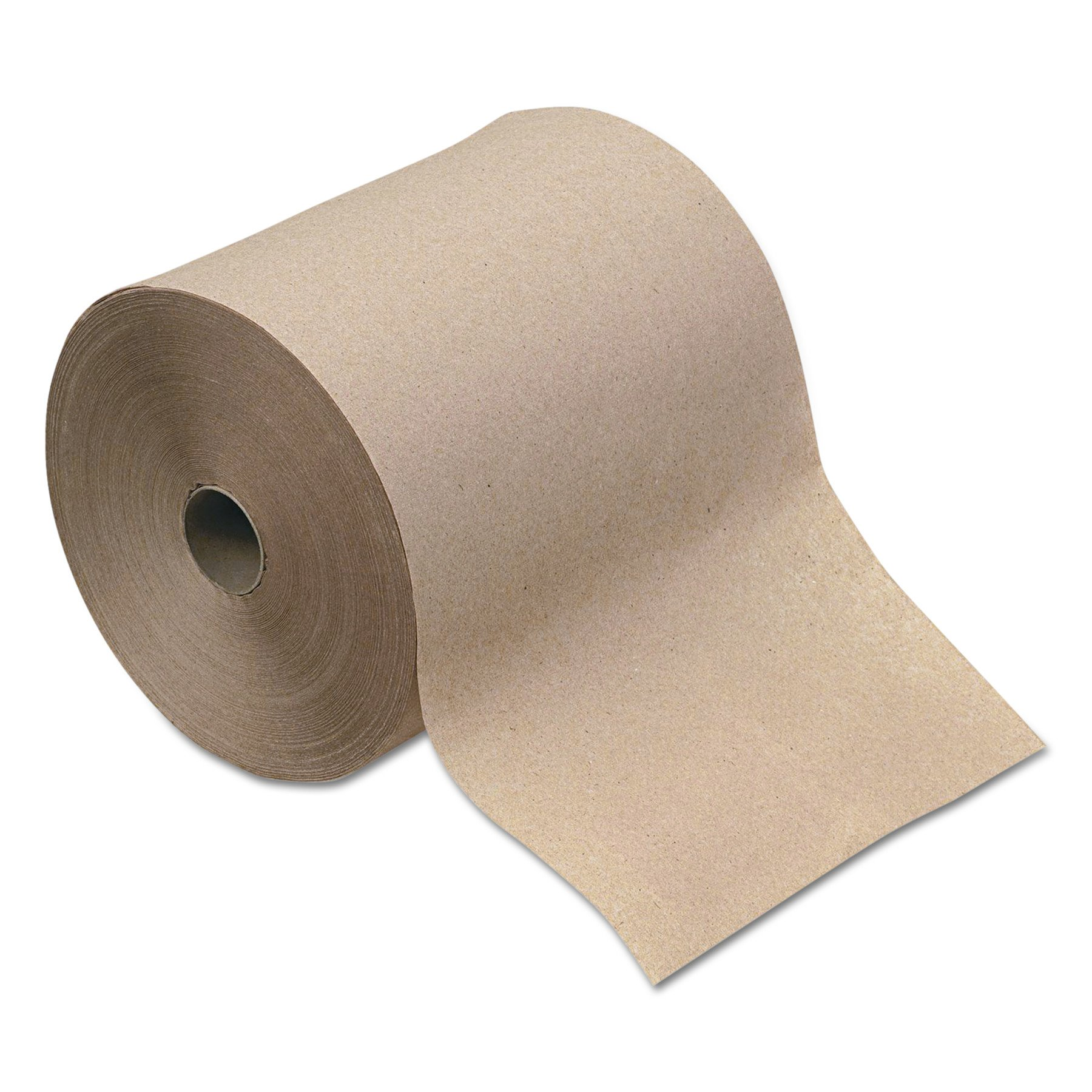 GEN 1916 Hardwound Roll Towels, 1-Ply, Natural, 8'' x 600 ft (Case of 12)
