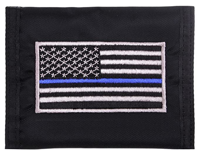 Amazon.com  Rothco Thin Blue Line Flag Nylon Commando Wallet  Clothing 78d63763e40