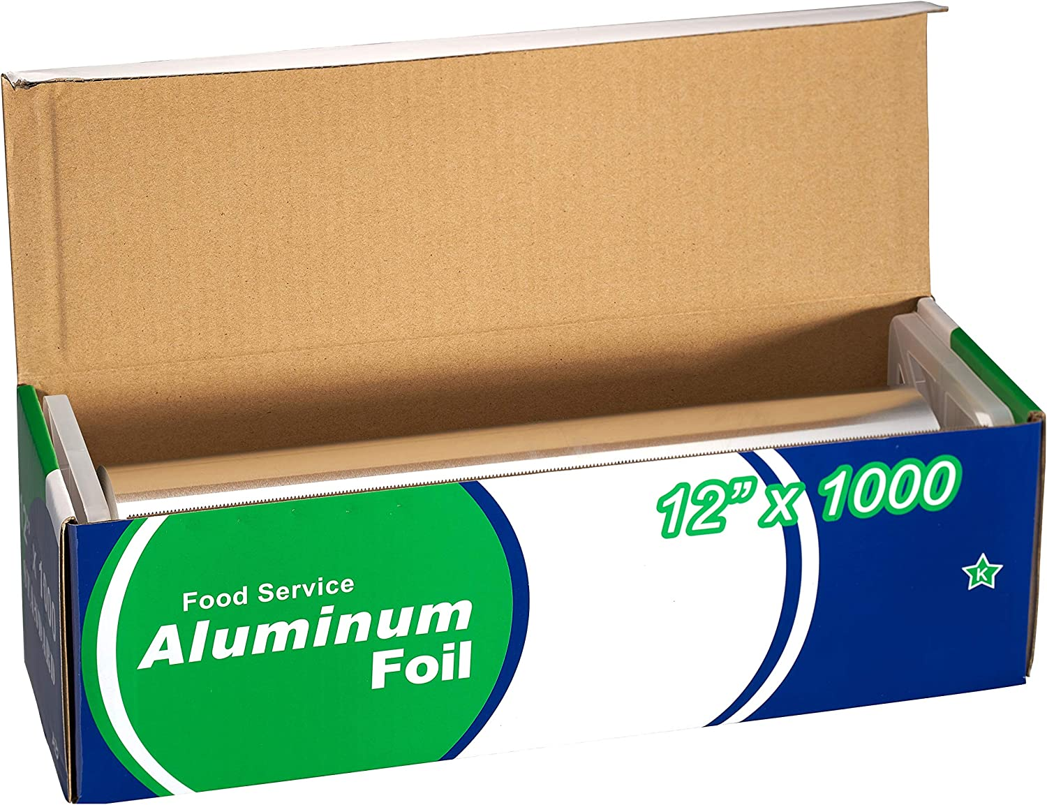 EcoQuality [1 Pack] Food Service Aluminum Foil Roll (12