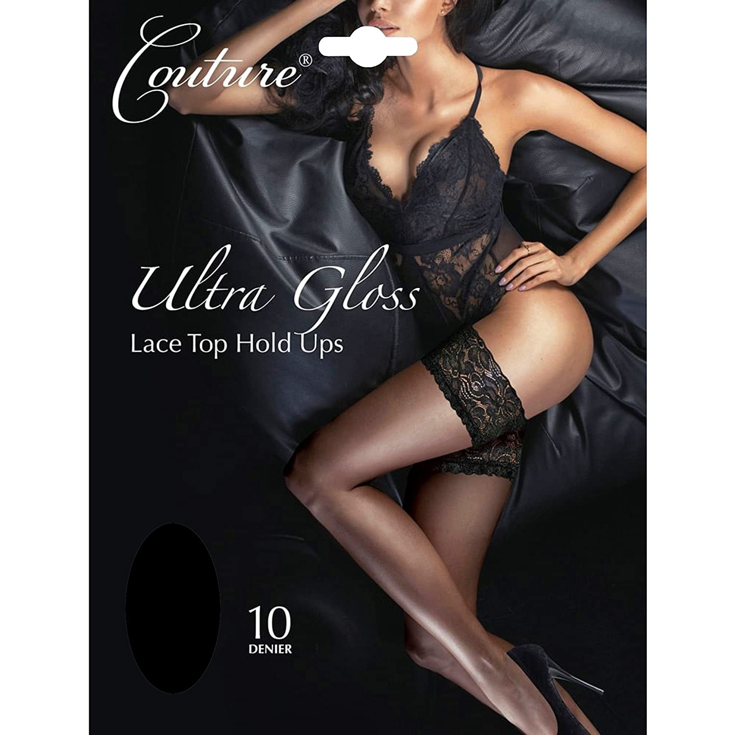 Couture Ultra Gloss Luxury 10 Denier Lace Top Hold Ups