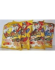 Korean Ppushu Ppushu Smash Noodle Variety Combo Snack Pack Set by Ottogi