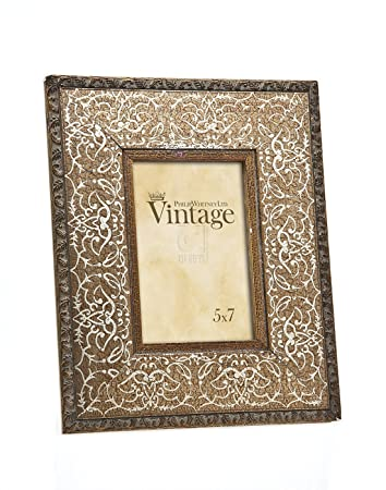 Amazon.com - Philip Whitney 5x7 Rugged Vintage Wooden Gold Scroll ...