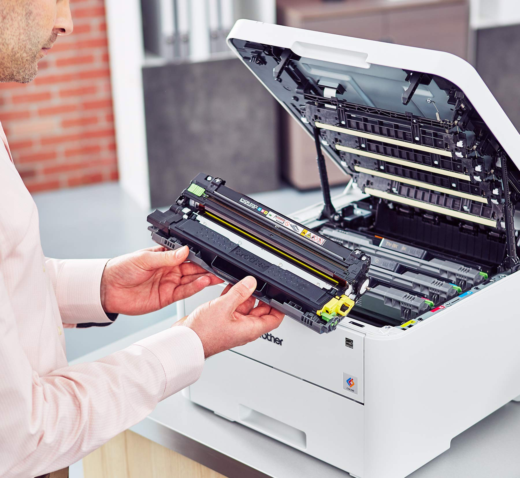 Brother HL-L3230CDW Compact Digital Color Printer Providing Laser Printer Quality Results with Wireless Printing and Duplex Printing, Amazon Dash Replenishment Enabled by Brother (Image #9)
