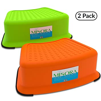 Kids Step Stool For Toddlers | Great For Potty Training Bathroom Sink Kitchen Bedroom | Safety  sc 1 st  Amazon.com & Amazon.com : Kids Step Stool For Toddlers | Great For Potty ... islam-shia.org