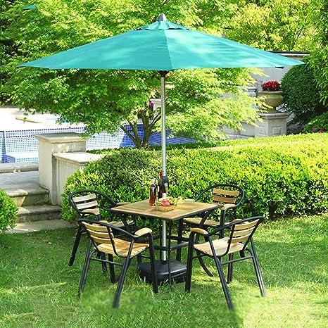 LNDDP Sombrillas Market Patio Sombrilla al Aire Libre Jardín Mesa jardín Toldo Solar Poste Aluminio Protección UV 270cm * 250cm (Color: Rojo Vino): Amazon.es: Deportes y aire libre