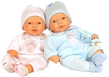 Nines Artesanals dOnil - Nines Mellizos Night, 2 muñecos bebé con Chupete (592)