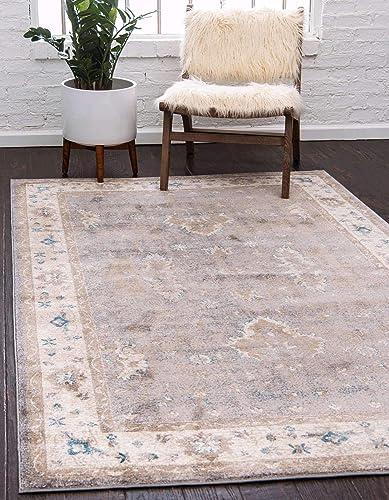 Unique Loom Salzburg Collection Traditional Oriental Gray Area Rug 10 0 x 13 0