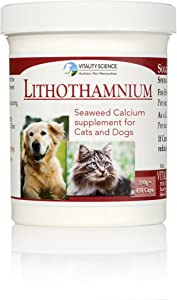 Vitality Science Lithothamnium Calcium Supplement for Cats & Dogs | Multi-Nutrient Supplement | Promotes Strong Bones and Healthy Joints | Relieves Chronic Diarrhea | Absorbs Extra Water | 100% Safe