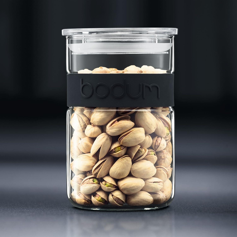 Bodum 11099-913 Presso Storage Jar, Borosilicate Glass - 1 L, Off-White
