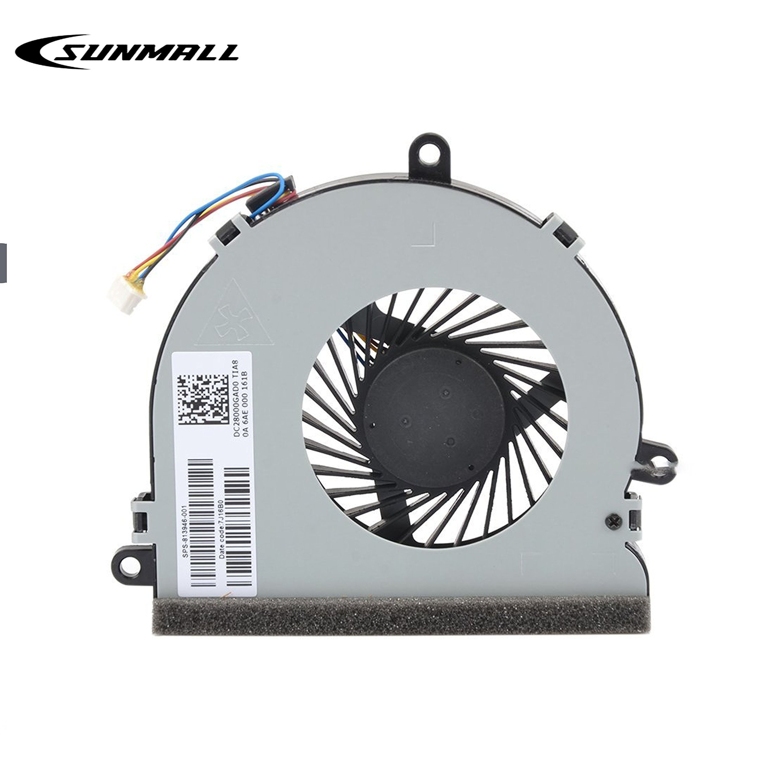 Replacement CPU Cooling Fan For HP 250 G4 255 G4 15-AC 15-AF 15-AC622TX 15-ac032no 15-ac033no 15-ac042ur 15-ac121dx 15-ac029ds 15-ac120nr 15-ac137cl 15-ac023ur series SPS 813946-001 (4-Pin 4-Wire)