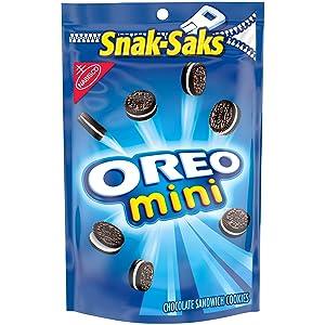 OREO Mini Chocolate Sandwich Cookies, 8 oz Snack-Sak Bags