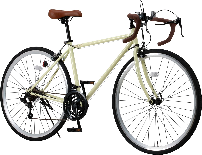 otomo(オオトモ) NEXTYLE (ネクスタイル) 前輪クリックリリース ドロップハンドル 700C ロードバイク シマノ21段変速[サムシフター] 2WAYブレーキシステム搭載 フレームサイズ470 アイボリー RNX-7021 B0771KWWT2