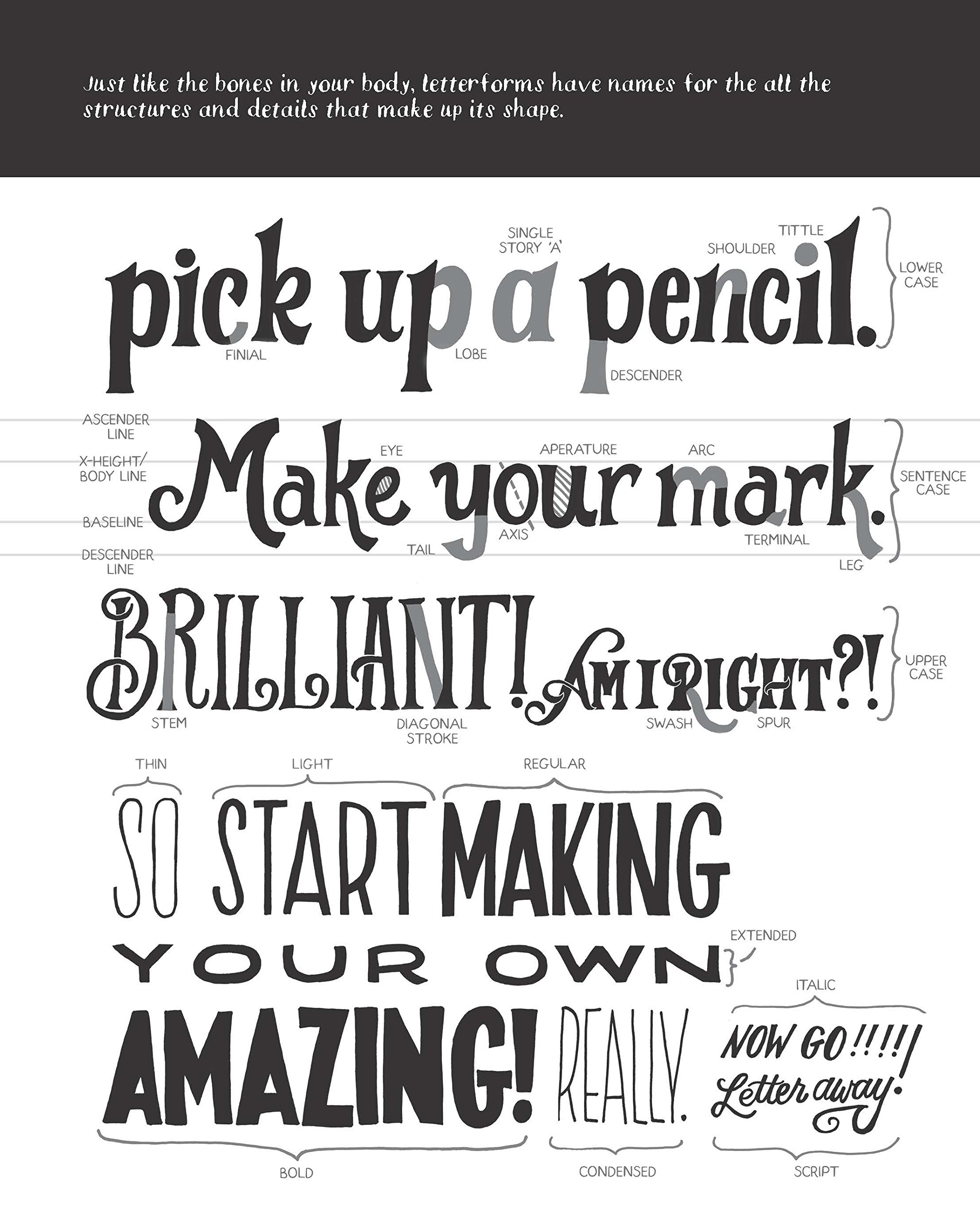 Book Cover Typography Worksheet ~ Hand lettering for everyone a creative workbook cristina vanko