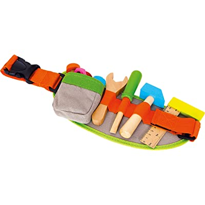 Small Foot Wooden Toys Tool Belt & Accessories Adjustable playset for Kids Designed for Children 3+: Toys & Games