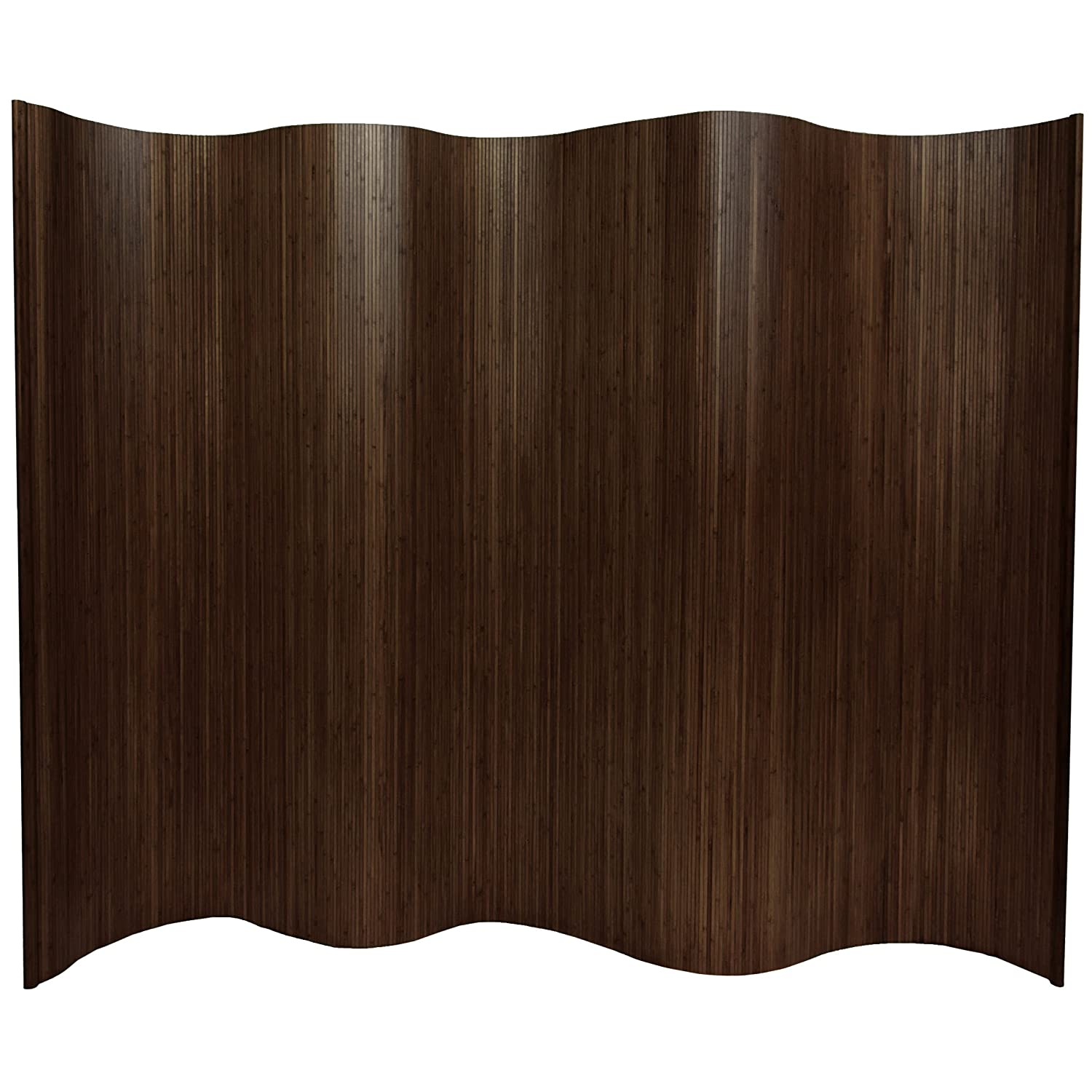 Amazon.com: Oriental Furniture 6 Ft. Tall Bamboo Wave Screen   Dark Mocha:  Kitchen U0026 Dining