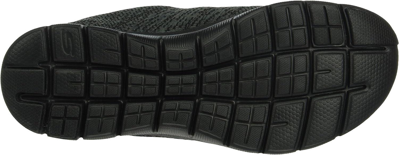 Skechers Women's Flex Appeal 2.0 High Energy Low-Top Sneakers Black Charcoal u4NHIn