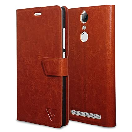low priced 57275 13759 Ceego Flip Cover for Lenovo Vibe K5 Note [Ultra Compact with Magnetic Lock]  – XpressGo Series - Lenovo K5 Note Flip Case (Vintage Brown)