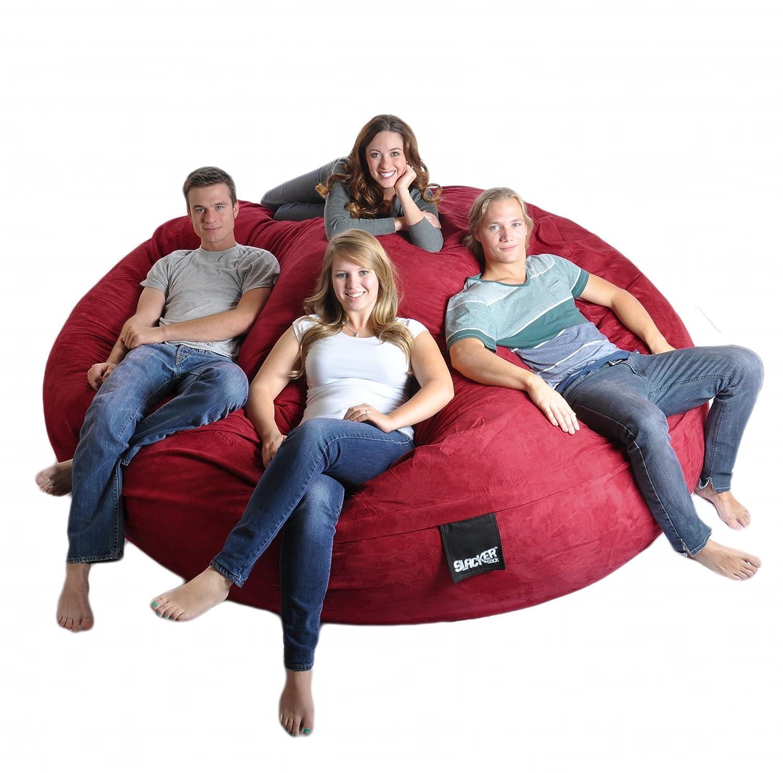 Amazon 8 Round Cinnabar Red SLACKER sack Biggest Foam Bean