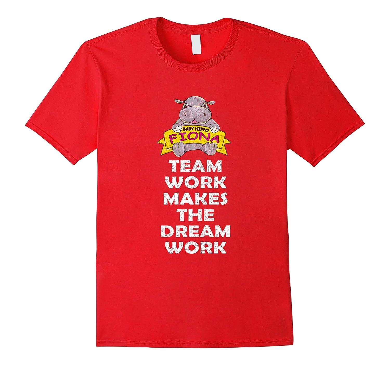 Baby Hippo Fiona Tee Team Work Makes The Dream Work T Shirt-BN