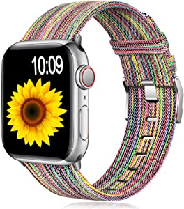 Muranne Bands Compatible with Apple Watch Band 38mm 40mm iWatch SE & Series 6 & Series 5 4 3 2 1 for Women Men, Colorful Pattern