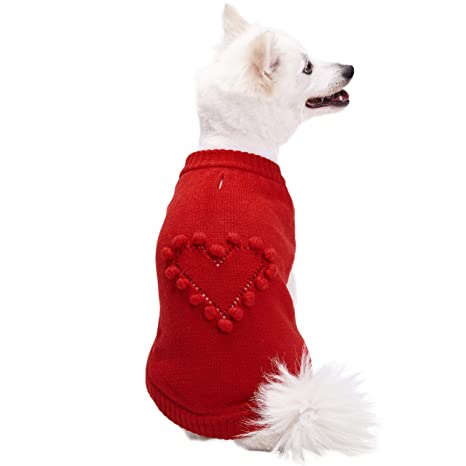 a7fbecdc12ad8 Blueberry Pet 2019 New 4 Patterns for Love of Pets - Heart Designer Dog  Sweater,