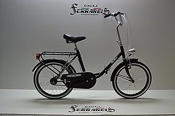 Bicicleta de paseo plegable Graziella, para hombre y mujer, 20pulgadas; negra