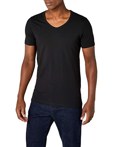 buy online e9d5e a39fb Jack and Jones Men's Basic V-Neck Tee Short Sleeve T-Shirt