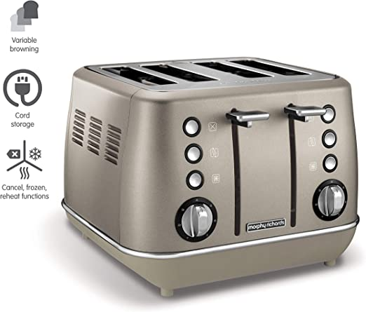 boutons Grille-pain China bronze Morphy Richards Evoke Special Edition 4slices Grille-pain Bronze 850 W rotary 850 W s 2 ans 4 tranches