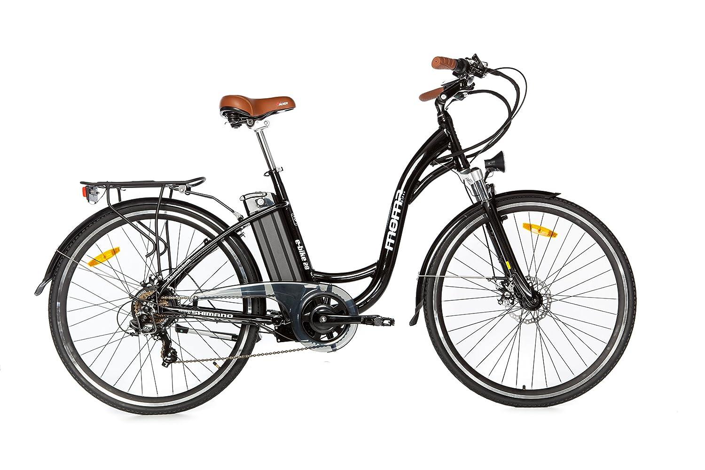 Moma Bicicleta Eléctrica Paseo SHIMANO ruedas de Aluminio Batería Ion Litio V