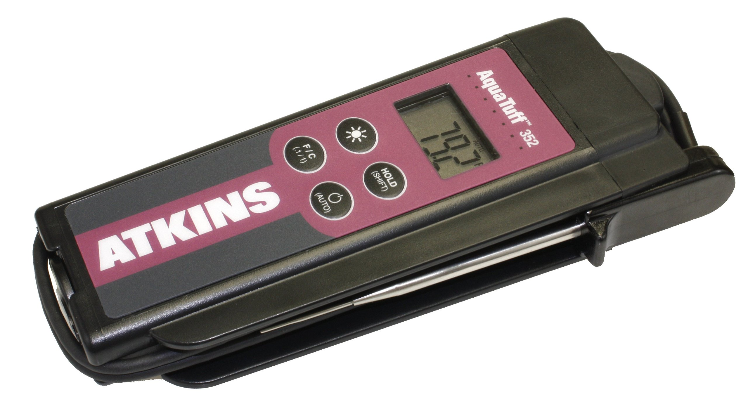 Cooper-Atkins 35240 Series 352 AquaTuff Wrap&Stow Waterproof Thermocouple Instruments with MicroNeedle Probe, -100 to +500 degrees F Temperature Range