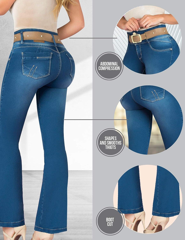 Aranza Pantalones Colombianos Levanta Cola Butt Lifting Colombian Jeans Boot Cut Women Jeans